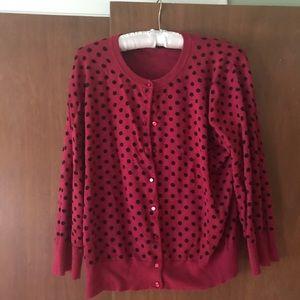 Sweaters - Cardigan polka dots
